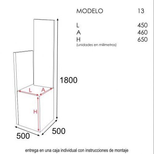 Expositor modelo 13 for Muebles sayma